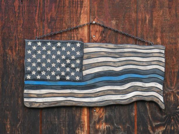 Small American Thin Blue Line Flag