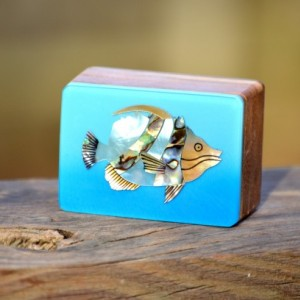 Natural Wood & Shell Gift Box