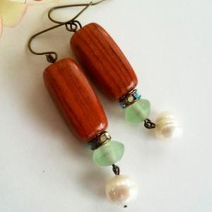 Boho Chic ~ Beaded Boho Dangle Earrings ~ Rustic Jewelry ~ Dangle Earrings ~ Shoulder Duster Earrings ~ Shoulderduster Earrings