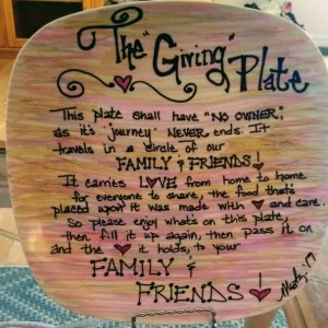 """""""The Giving Plate"""" Colorful"""