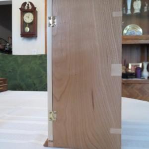 Cherry Jewelry Box, Maple Splines, Shelf, and Doors with Limb Inlay