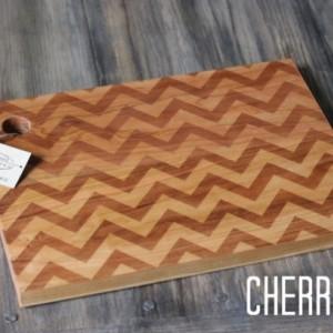 Modern Chevron Pattern Engraved Cutting Board