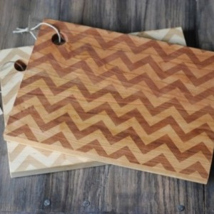 Modern Chevron Pattern Engraved Cutting Board
