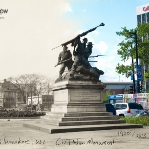 Then & Now: Milwaukee - Civil War Monument
