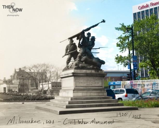 Then & Now: Milwaukee - Civil War Monument
