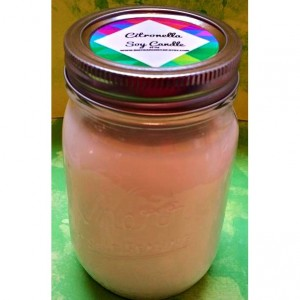 Citronella Candle - Mosquito Candle - Soy Wax - Mason Jar - 14 oz