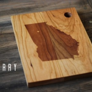 Custom City, State or Country Personalized Cutting Board - 16