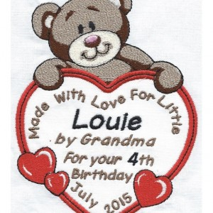 Bear Quilt Label-     free shipping on labels