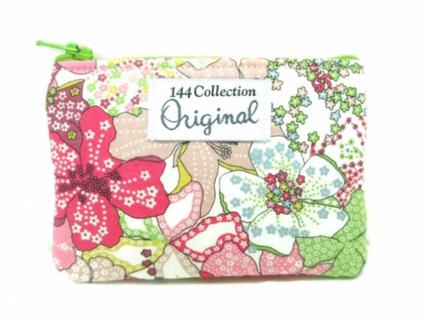 Pink Floral Change Purse, Change Wallet