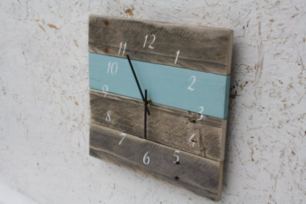 Reclaimed Wood Wall Clock. - Modern. Pallet Wood. Repurposed. Recycled. Reclaimed Wood Wal Aftcra