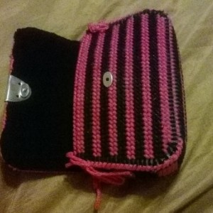 Pink and Black Clutch