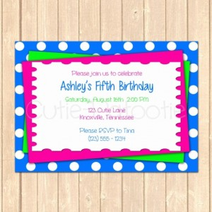Personalized Colorful Birthday Event Invitation