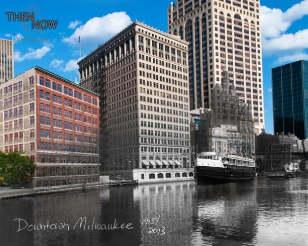 Then & Now - Downtown Milwaukee