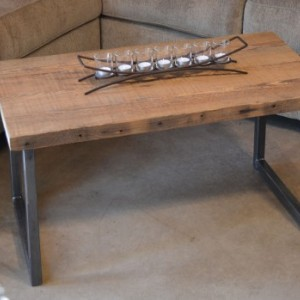 "Coffee Table - 36""  Reclaimed Wood & Metal Legs"