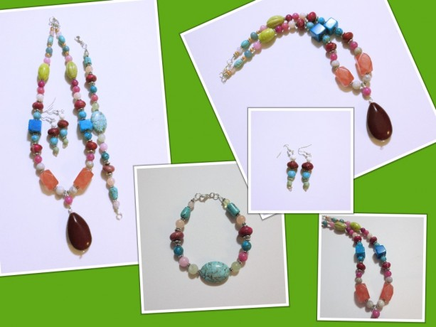 Multiple Gemstone 3 Piece Set