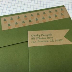 Personalized Pineapple Banner with Wraparound Address Label (Set of 24)