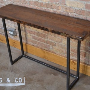 Console Table 48 Reclaimed Wood Metal Legs Aftcra