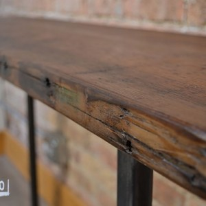 "Console Table - 48""  Reclaimed Wood & Metal Legs"