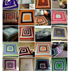 "30"" x 30"" Granny Square Throw Blanket"