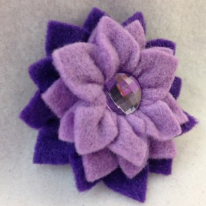 Handmade Aster Mini Clip Hair Accessory - 2 Flowers