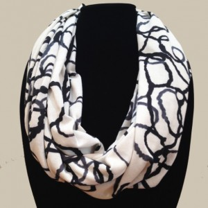 Cream Ropes Infinity Scarf