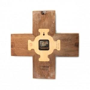 Plus Clock - Solid Walnut Wall Clock