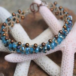 Handcrafted Jewelry - Swarvoski Flower Bracelet