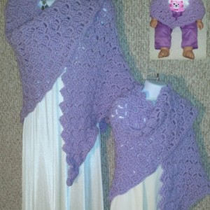 Cuddle Set Shawls Inspired by Disney Princess Rapunzel