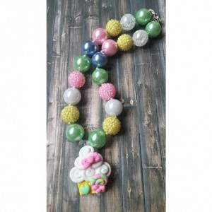 Birthday Cupcake Chunky Necklace