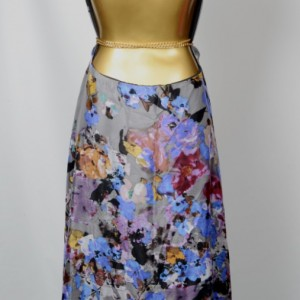Floral Silk Backless Wrap Dress - Papier Decoupe