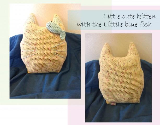 Crochet Kitten Cushion
