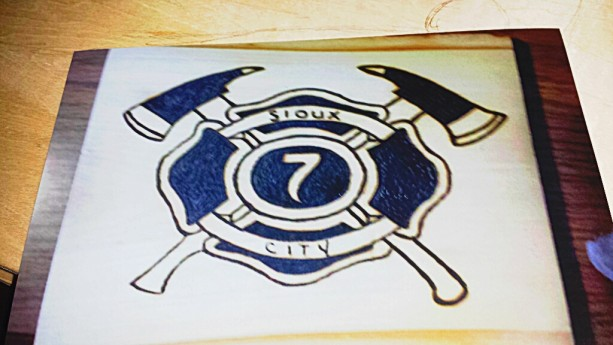 Fire fighting plaque