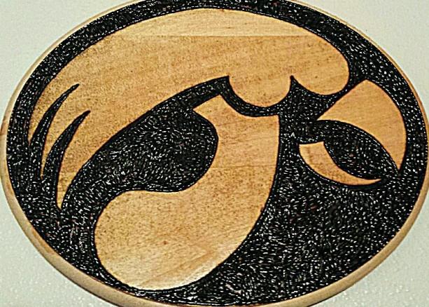 Iowa hawkeye plaque