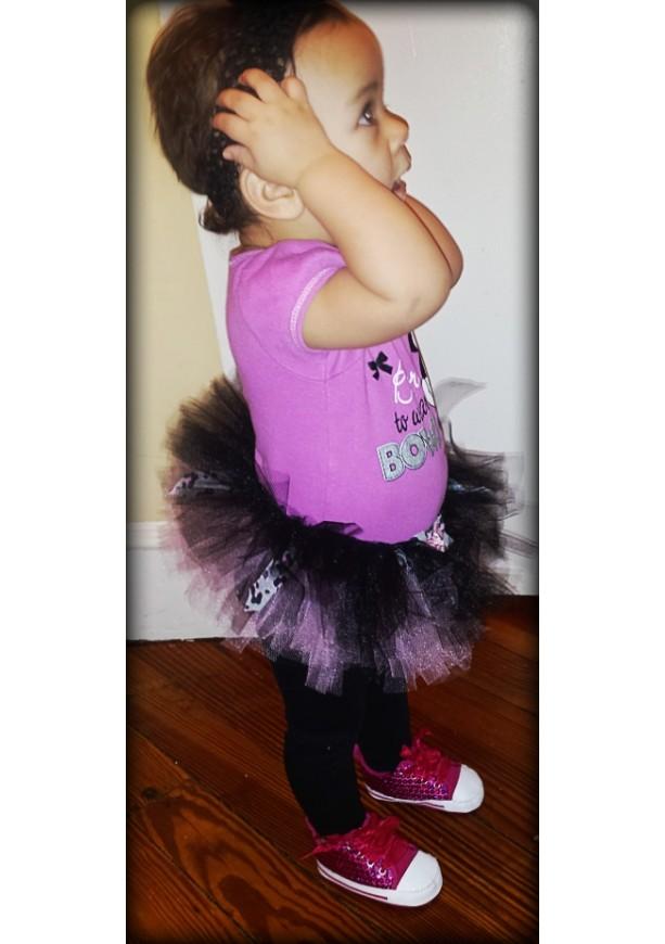 Lil Diva Tutu - Pink, Black & Cheetah