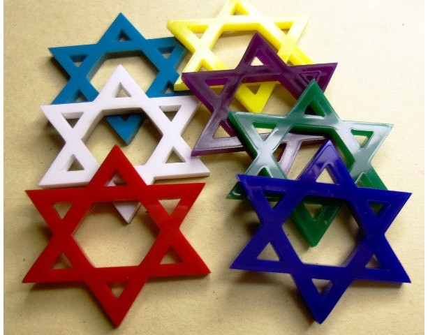 Star of David,star charms,laser cut charms,Holographic