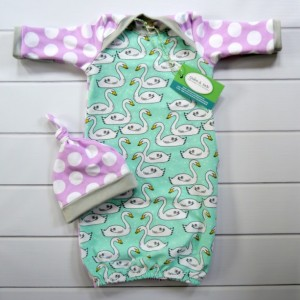Swan Newborn Baby Gown Set