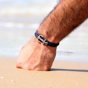 Men Anchor Bracelet - Men Leather Bracelet - Men Bracelet - Men Jewelry - Men Gift - Boyfriend Gift - Husband Gift - Present For Men - Male