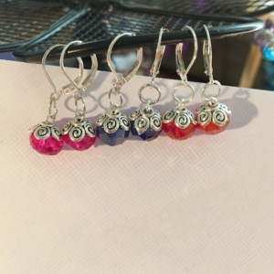 Glass sparkle earrings