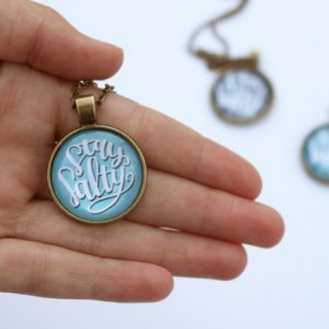 Stay Salty Handmade Pendant Necklace