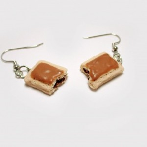 Cinnamon Toaster Pastry Earrings, Toaster Tart, Toaster Pop, Cinnamon Tart Earrings, Toaster Pastry Earrings, Breakfast Pastry Earrings