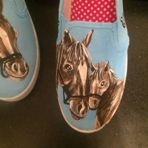 Handpainted Horse Shoes
