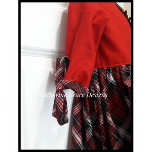 Girl's Christmas dress, girls plaid dress, christmas outfit, holiday dress, girls dress, red girl dress, holiday party dress, winter dress