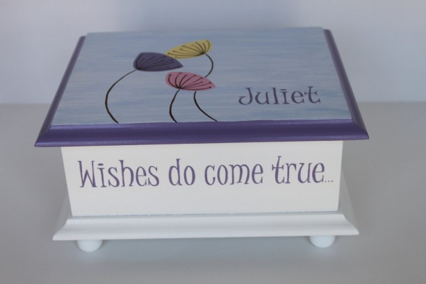 Wishes do come true baby keepsake Memory Box personalized baby gift