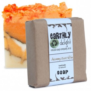 Honeysuckle Natural Soap Bar | THREE 5.5 oz. Bars