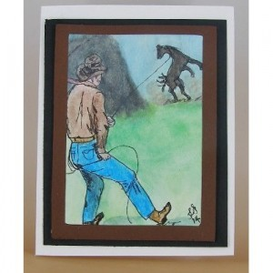 Wild Bronc, Greeting Card