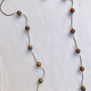 Handmade Gold and Pink Leopard Print Beaded Necklace