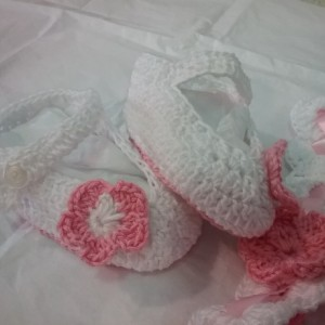 Baby Booties and Head Band