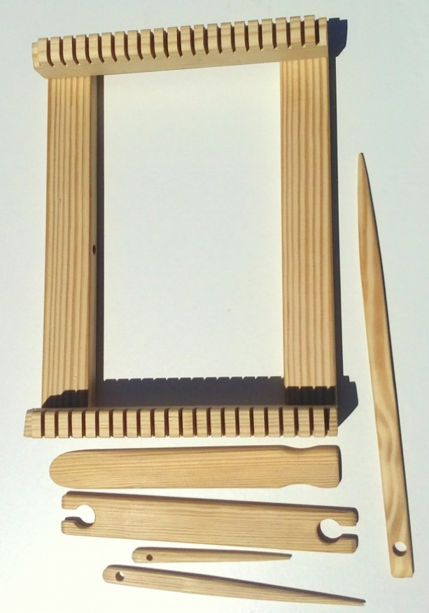 12 inch wide Weaving lap loom kit. x 12