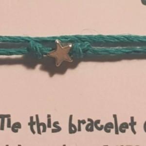 Wish bracelet/ Hemp cord wish bracelet