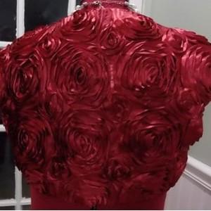 Red Rosette Bridal Bolero Fully Lined